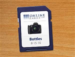 sd card labels create custom labels for your sdhc memory With sd card label template