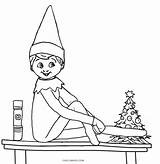 Elf Shelf Coloring Pages Colouring Printable Christmas Sheets Elves Pdf Printables Drawing Cool2bkids Colors Sheet Holiday Boy Fresh Night Template sketch template