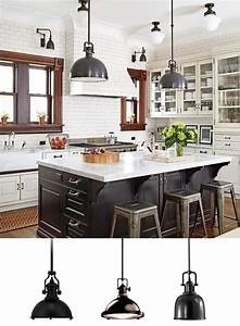 Kitchen island pendant lighting design : Industrial pendant lighting in the kitchen lamps plus