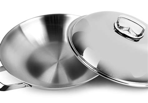 wmf multi ply stainless steel wok  cutlery