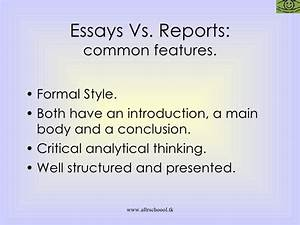 Report vs essay - difference between narrative report and essay ...