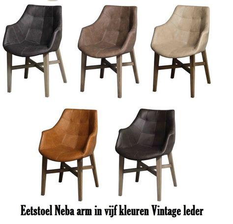 lederen stoelen kleuren stoel neba met armleuning leder 5 kleuren droomhuis