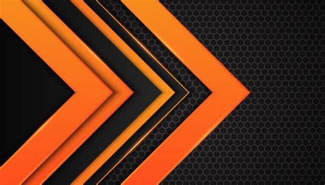 abstract orange geometric shapes  dark background