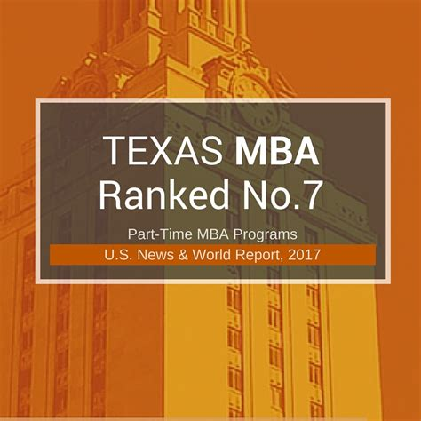 texas mba working professional programs rank   texas