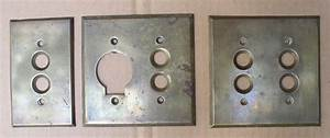 Antique Brass Push Button Light Switch Plates Covers ...