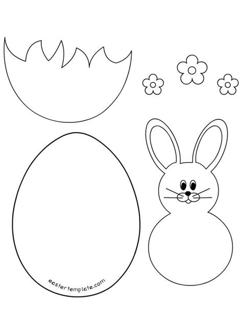 easter bunny  egg template  images easter