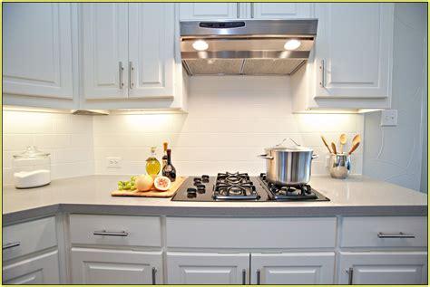 Subway Kitchen Backsplash : White Glass Subway Tile Backsplash