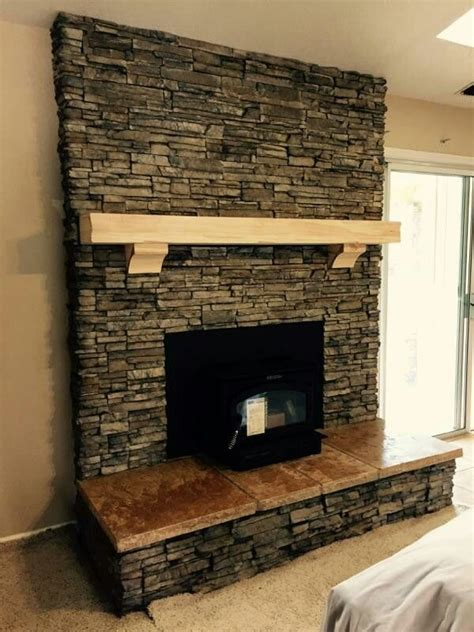 nantucket stacked fireplace el dorado nantucket stacked travertine hearth with