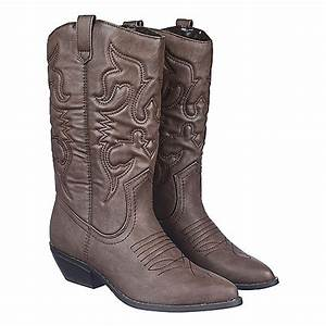 women39s low heel western boot reno s brown shiekh shoes With cowboy boots reno