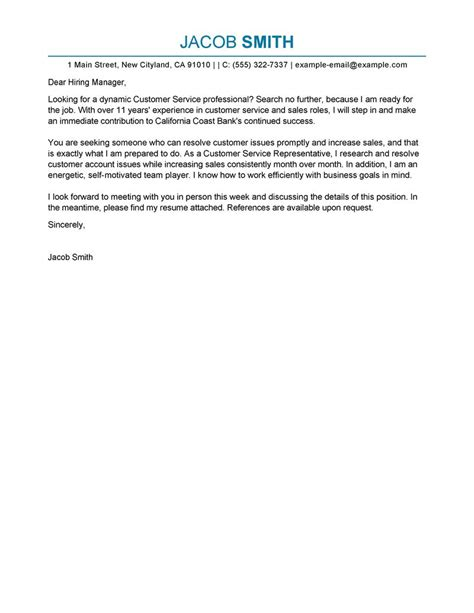 financial services sle cover letter simple cover letter sles customer service 28 images