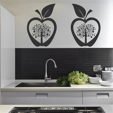 kitchen apple tree flower modern wall art sticker decal