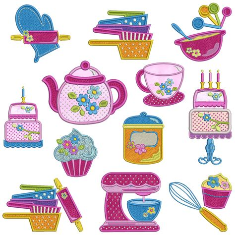 kitchen applique designs in the kitchen machine applique embroidery patterns 12 2187