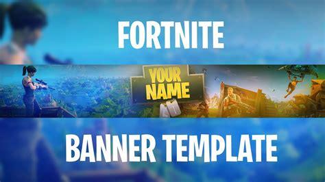 fortnite banner template   edit youtube