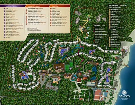 sandos caracol resort map mexique eco