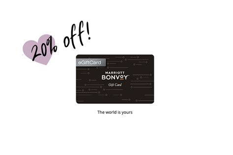 Choose from our gift card designs and treat yourself or someone else to a stay, spa day, culinary experience and more. 20% Off Marriott Gift Cards, on SALE May 11th - 17th - Sales Rack Sidekick
