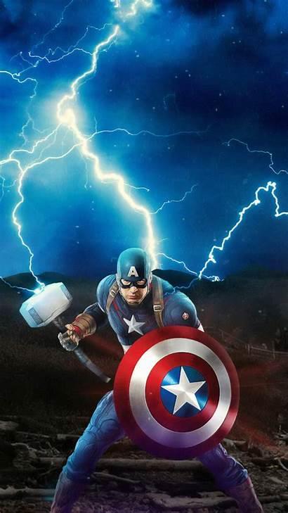 Captain America Endgame Mjolnir Avengers 4k Iphone