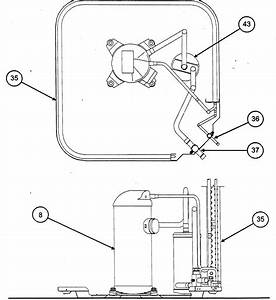 Compressor  Condenser Coil Diagram  U0026 Parts List For Model