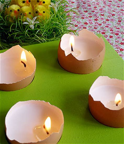 cuisine manuel décoration de pâques les petites bougies à la coque