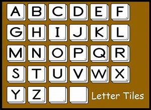 interactive whiteboard resource packs clipart With letter tiles