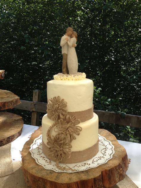 burlap wedding cakes ideas  pinterest rustic