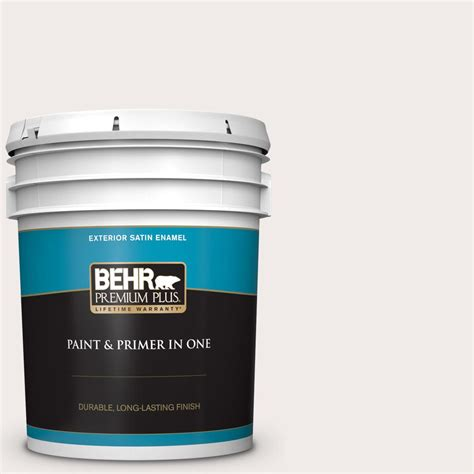behr premium plus 5 gal 780a 1 sweet vanilla satin enamel exterior paint and primer in one