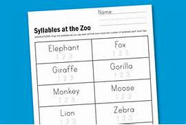 Worksheet Wednesday Zoo Syllables Paging Supermom 16 Best Images Of Reading Syllables Worksheet How To Teach Syllable Counting And A Freebie Heidi Songs 13 Best Images Of Syllable Sort Worksheet Open Syllable