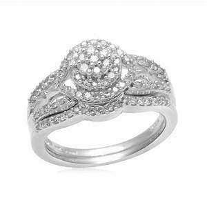 eternal treasures sterling silver 1 2ct round diamond With kmart wedding ring sets
