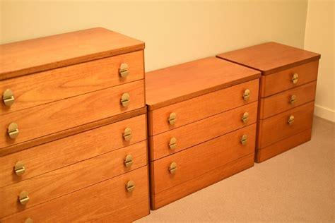 vintage stag light teak  plan era bedroom furniture chest