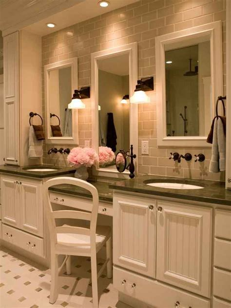 Bathroom Vanities With Makeup Table by Best 25 Master Bathroom Vanity Ideas On