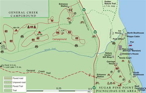 Sugar pine point state park boasts 175 campsites, including 1o group camp sites. Sugar Pine Point State Park