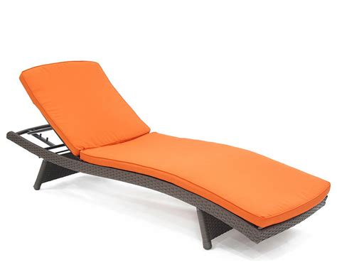 orange adjustable chaise lounge chair contemporary