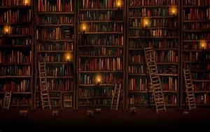 Tall bookshelves wallpaper - 120261