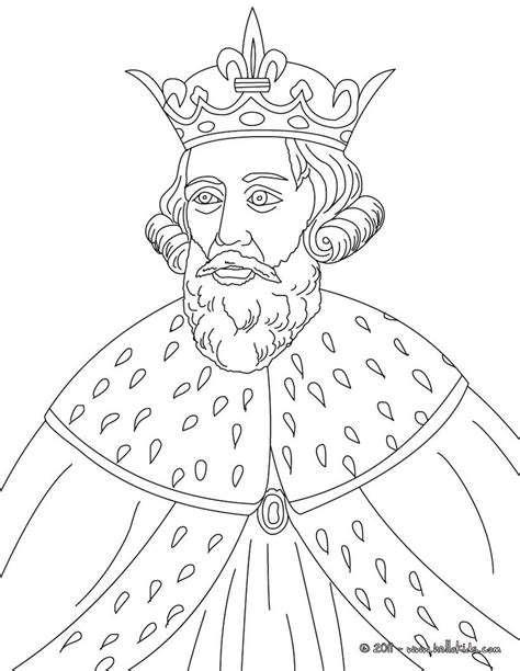 BRITISH KINGS AND PRINCES colouring pages - KING ALFRED