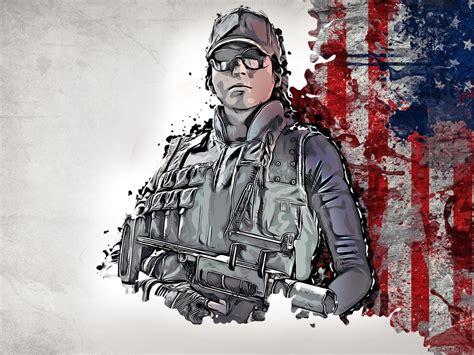 desktop wallpaper rainbow  siege glitch art soldier