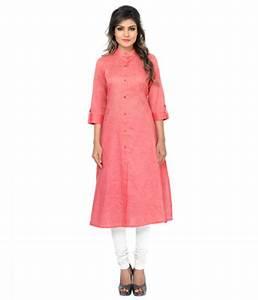 Buy Pink Khadi Plain kurti Online