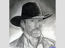 Draw Chuck Norris, Chuck Norris, Step by Step, Drawing
