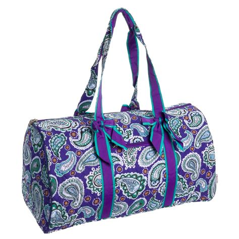 quilted duffle bag belvah quilted purple paisley large duffle bag travel