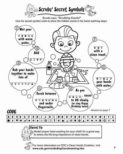 Coloring Handwashing Printable Germs Worksheets Activity Germ