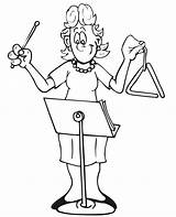 Coloring Triangle Instrument Player Popular Library sketch template