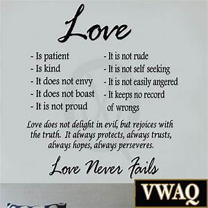 Love is patient love is kind wall art decor vinyl decal