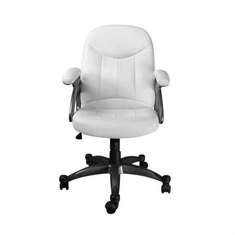 fauteuil de bureau blanc fauteuil chaise de bureau blanc design enzo achat