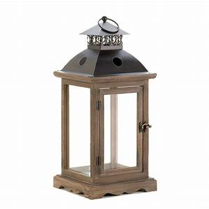 Monticello Wood Lantern (L) at Koehler Home Decor