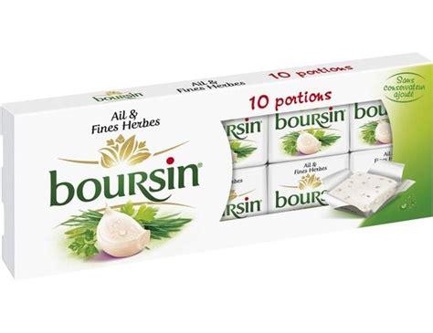 boursin ail et fines herbes 10 x 16 g boursin livr 233 par toupargel fr