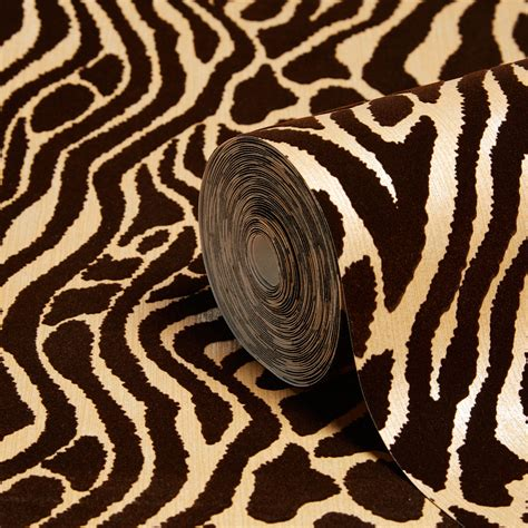 Brown Animal Print Wallpaper - graham brown julien macdonald caffe gold animal print