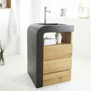 cuisine meuble sous vasque bois meubles sous vasque salle With meuble salle de bain vasque intégrée