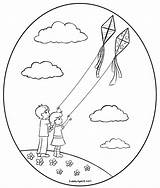Flying Coloring Kites Kite Pages Fly Drawing Children Clip Cubbies Awana Getdrawings Printable Sweetclipart Getcolorings sketch template
