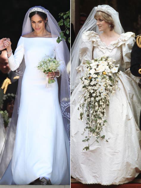 princess dianas wedding dress designer  meghan markles