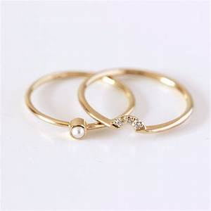 wedding ring set pearl wedding ring seed pearl ring dainty With pearl wedding ring sets