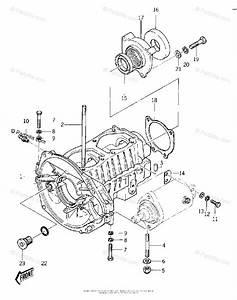 Kawasaki Jet Ski 1978 Oem Parts Diagram For Crankcase   U0026 39 77