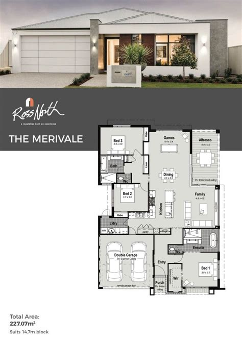 merivale  storey display home ross north homes perth dream house plans
